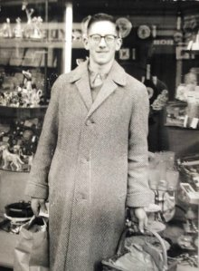 Alan out doing his shopping in Quarry Street in Hamilton c1960s.