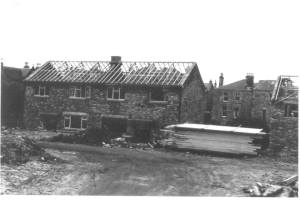 The Construction of 55 & 57 Laburnum Lea in 1963.
