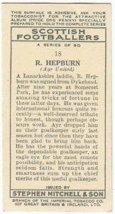 Cigarette coupon featuring Bob Hepburn.