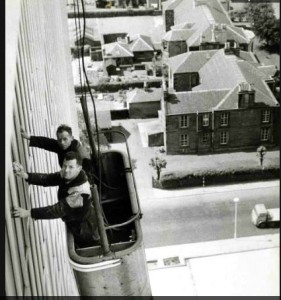 Pat Hughes & Tommy Wynne 200 foot up in the air.