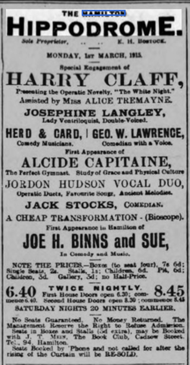 Hippodrome Advert
