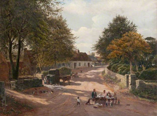 Meikle Earnock Village 1877.