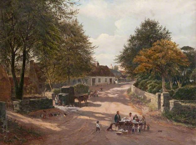 Meikle Earnock Village 1877.