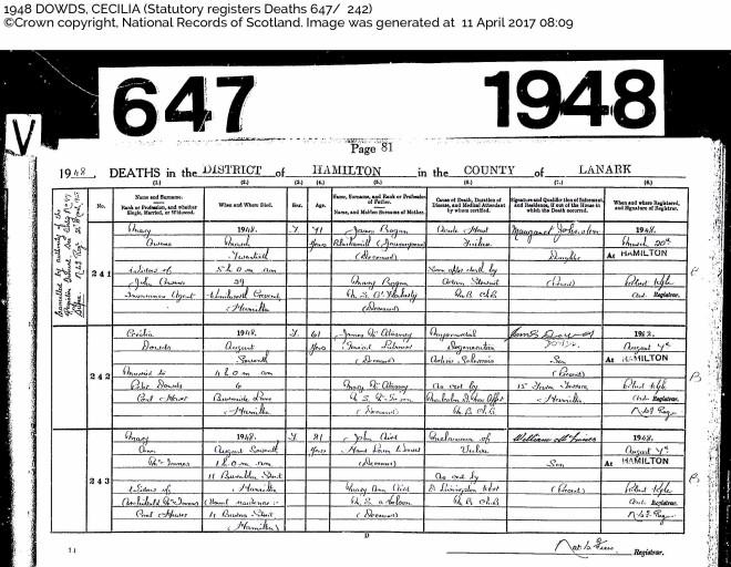 Cecellia Dowds Death 1948 Hamilton.jpg