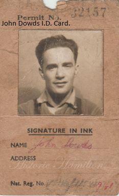 John Dowds ID Card.