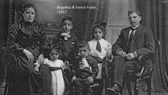 Angelina & Enrico Fusto c1917, WM.