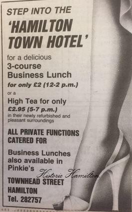 Hamilton Town Hotel 1985.