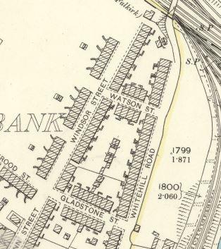 Watson Street map 1892-1914.