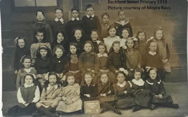 Beckford Street Primary School 1919 Moyra Bass.WM