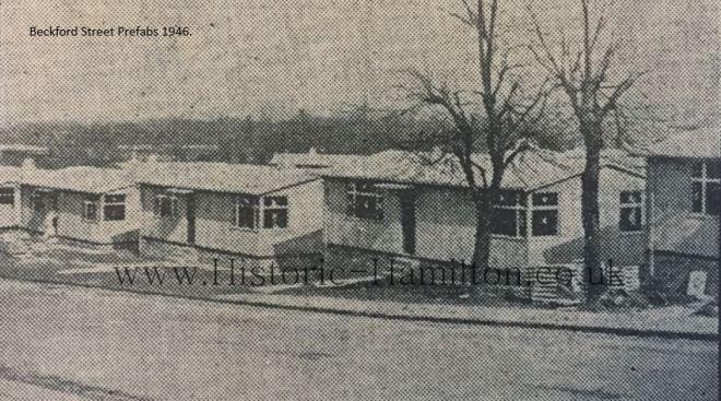 Beckford Street Prefabs 1946.