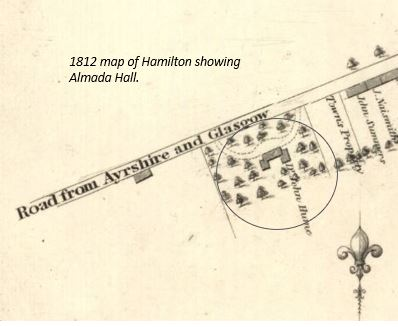 1812 Map Almada Hall.